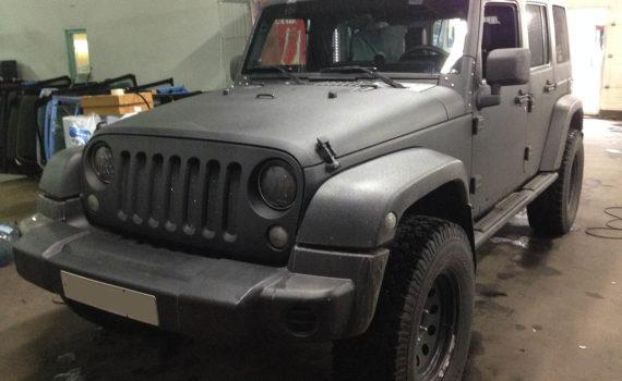 Замена лобового стекла на Jeep Wrangler