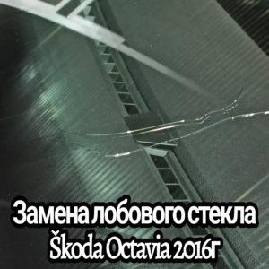 Замена лобового стекла Škoda Octavia 2016г