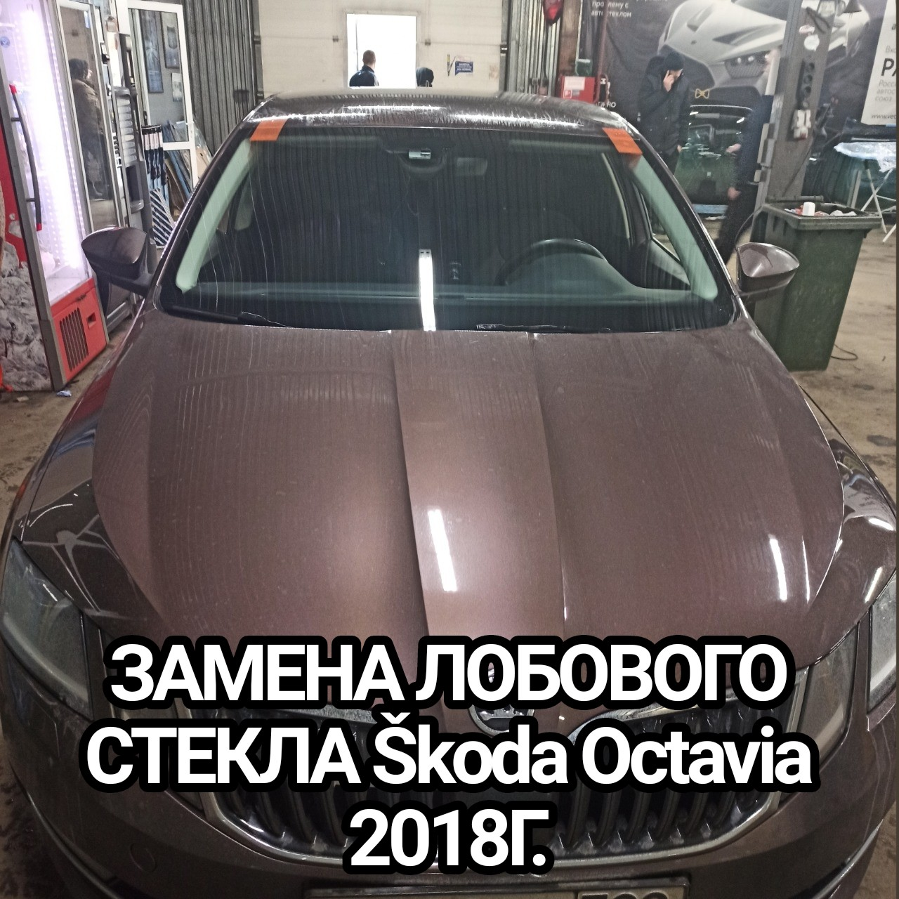 ЗАМЕНА ЛОБОВОГО СТЕКЛА Škoda Octavia 2018Г.